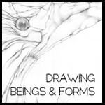 drawing - beings & forms button border